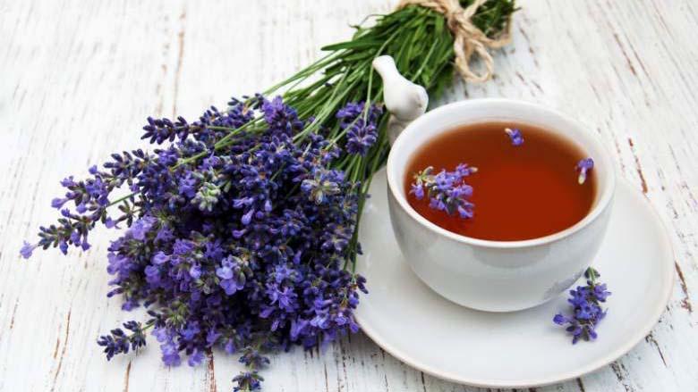 lavender dan teh